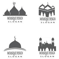 Mosque Logo Template vector symbol illustration design