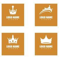 Diseño de ilustración de icono de vector de plantilla de logotipo de corona