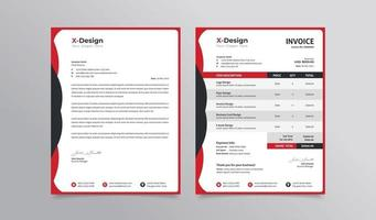 corporate business branding identity letterhead and invoice template vector