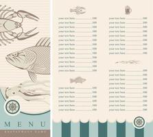 Food Restaurant Menu Card Design vector