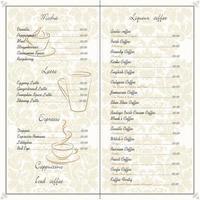diseño de tarjeta de menú de restaurante de comida vector