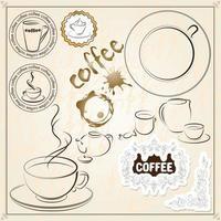 Coffee Beverages Design vector