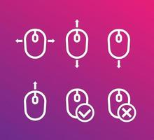 scroll up and down with mouse vector icons for apps and web