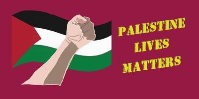 las vidas palestinas importan vector