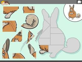 jigsaw puzzle game with viscacha animal character vector