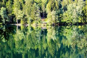 Piburger lake in the Austrian Alps of Tyrol photo