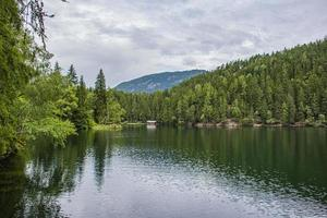 Piburgersee in the Otztal valley in the Austrian Tyrol photo