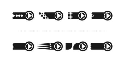 This is a set of new stylish flat arrows in a circle with an unusual finish vector