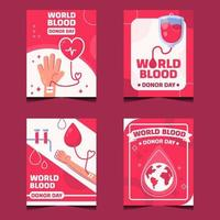 Card Collections of World Blood Donor Day vector