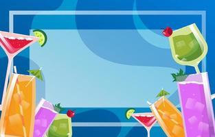 Summer Drinks Background vector