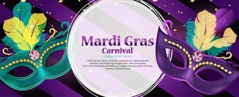 fondo de carnaval de mardi gras vector