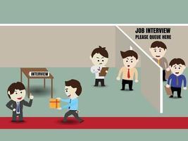Ilustración de vector de concepto de corrupción de contratación empresarial