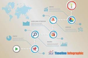 Modern timeline infographic with 5 steps circle designed for template brochure diagram planning presentation process webpages workflow Vector illustration