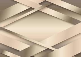 Abstract 3D golden stripes paper cut decoration textured with overlapping layers background vector