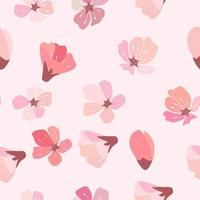 Abstract Floral Sakura Flower Japanese Natural Seamless Background vector