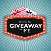 Enter to win Giveaway time vector