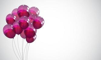 fondo de globos de color brillante vector