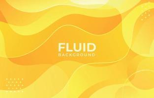 Fluid Yellow Background vector