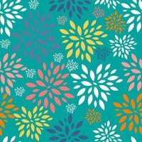 fondo floral sin patrón vector