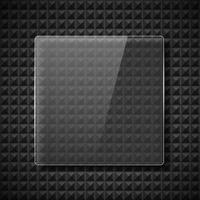 marcos de vidrio realistas vector
