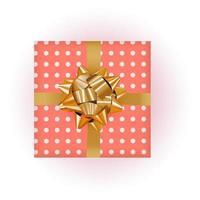 caja de regalo con lazo y cinta vector