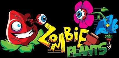 Zombie Plant Graffiti Style Illustration vector