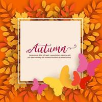 Autumn sale banner in water color style vector