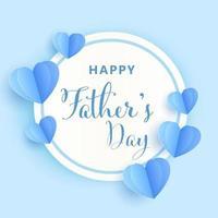 banner del día del padre en estilo de corte de papel vector