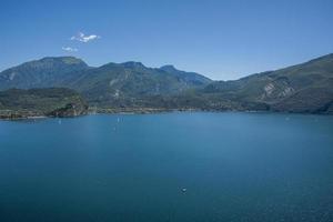Lake Garda and the mountains of Trentino Alto Adige photo