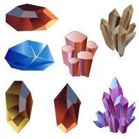 Crystal set for game Asset vector