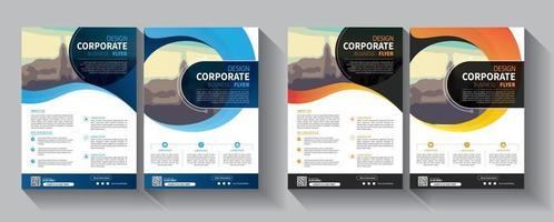 Plantilla de folleto comercial para promoción de folleto de diseño o empresa de informe anual vector