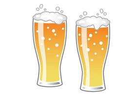 Beer Glasses Easy To Use Vector Illustration Isolated On A White Background