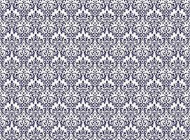 Horizontally And Vertically Repeatable Vector Seamless Damask Vintage  Pattern