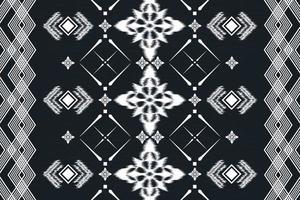 Geometric ethnic oriental ikat seamless pattern traditional background design vector