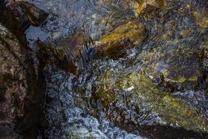 Mountain stream near Lake Levico in Trento, Italy photo