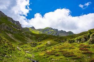 Trentino Alps near Lake Levico on a summer day photo