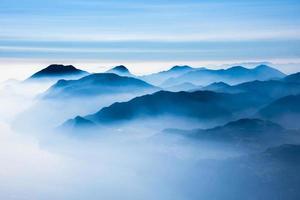 The peaks of the Alps around Lake Garda photo