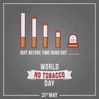 Ilustración de vector de día mundial sin tabaco