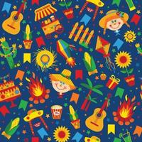 Festa Junina village festival in Latin America. vector