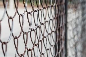 Rusty mesh closeup on the street photo