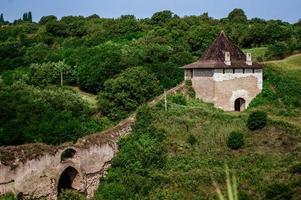 Khotyn fortess castle in Ukraine photo