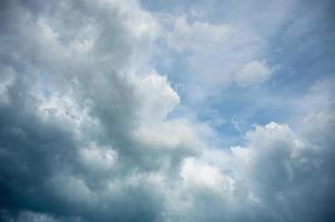 Blue sky with cloud photo