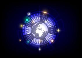 world and circle background vector