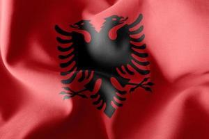 Bandera de ilustración 3d de albania foto