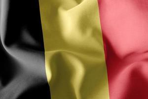 3D rendering illustration closeup flag of Belgium photo