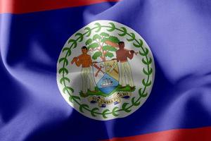 3D rendering illustration closeup flag of Belize photo