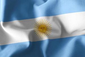 3D illustration flag of Argentina photo