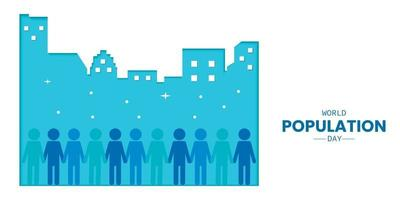 World Population Day With Building Paper vector