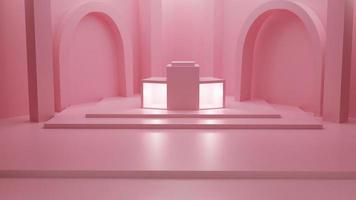 3d rendering of pastel pink background photo