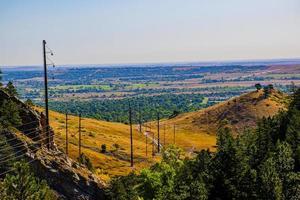 Electric cables in Chautauqua Park in Boulder, Colorado photo